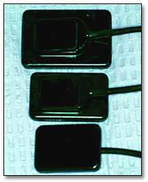 Photo showing examples of digital radiography sensors