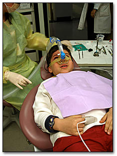 Image: Mask on the patient.