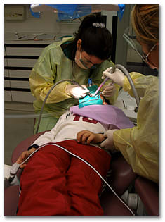 Image: Dental treatment.