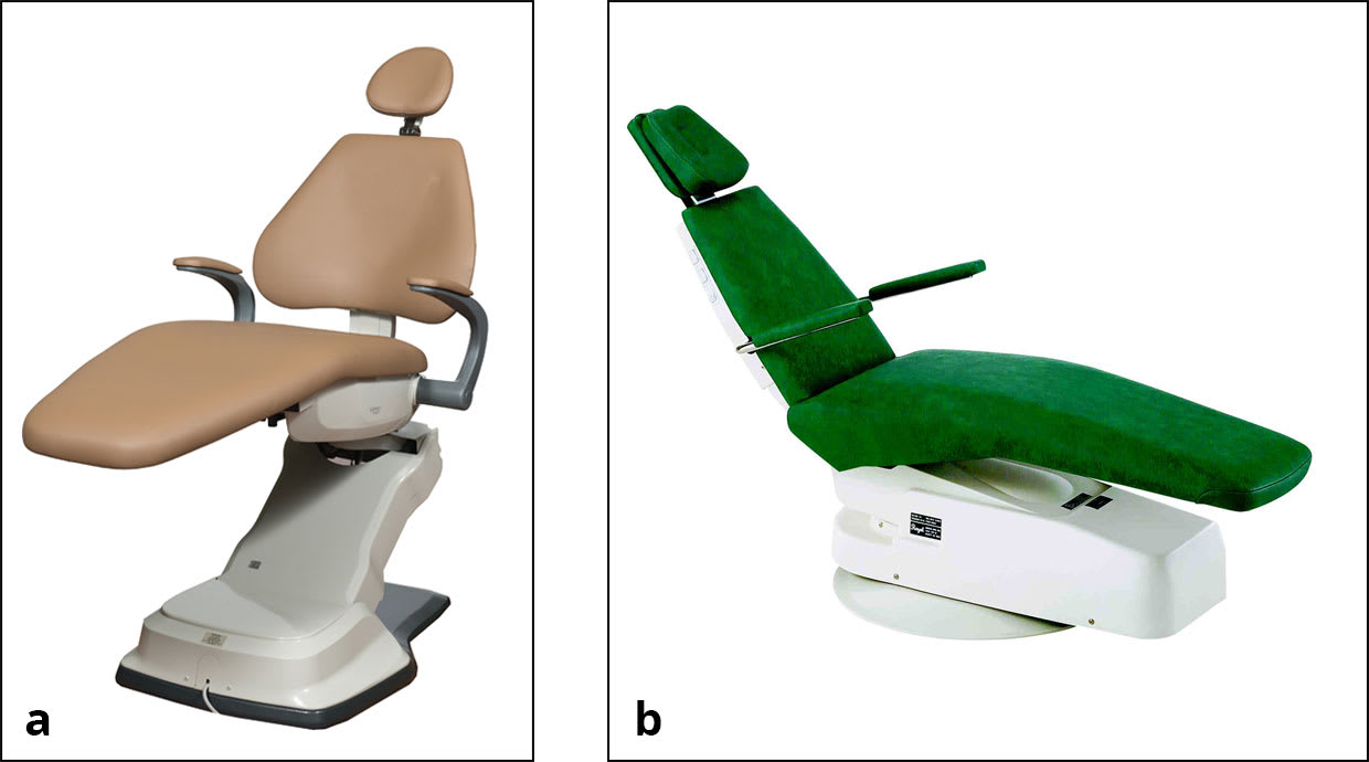 Dental patient chair images including pediatric chair.