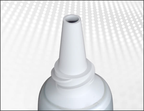 Image showing small dispensing nozzle of adhesive tube