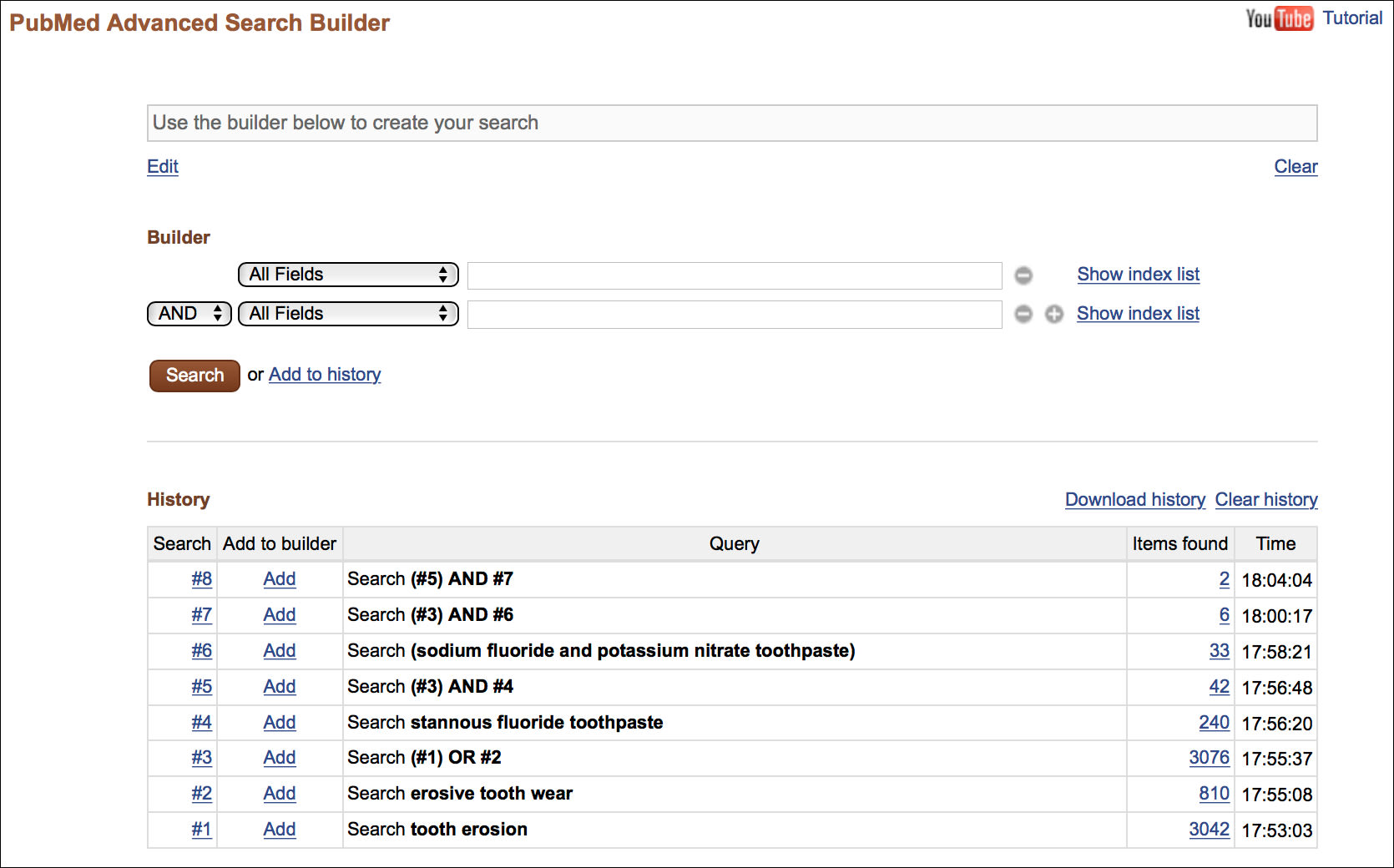 Advanced Search Builder and Search History Feature | Strategies for