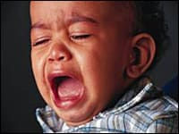 Image: Teething - crying toddler