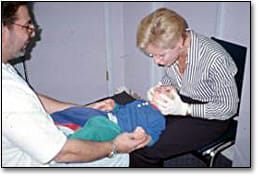 Image: Clinical examination of child patient.