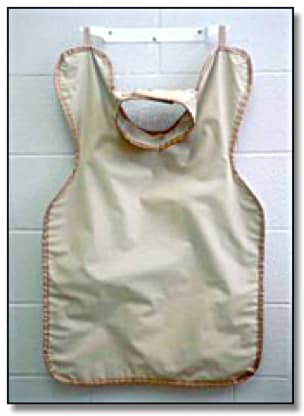Panoramic lead apron with full length front and back panels