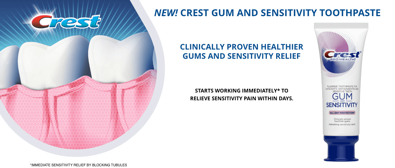 Crest Gum and Sensitivity Toothpaste