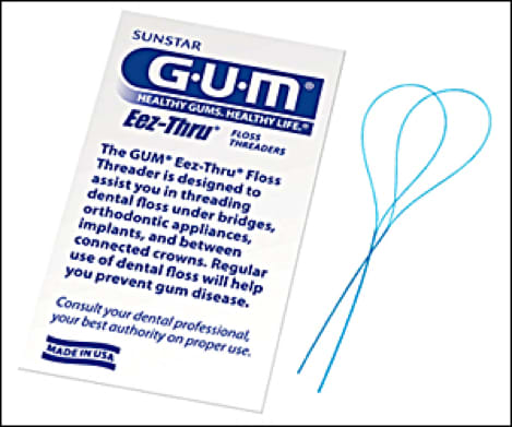 Image showing packaged floss threader.