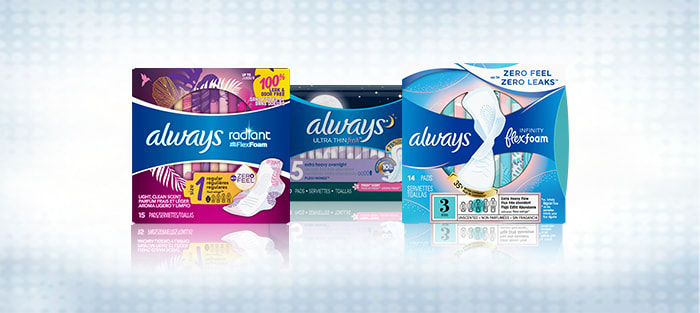What Ingredients are in Always Pads?