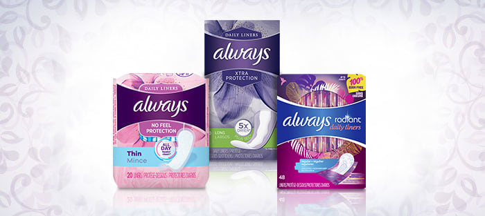 What is in an ALWAYS Panty Liner
