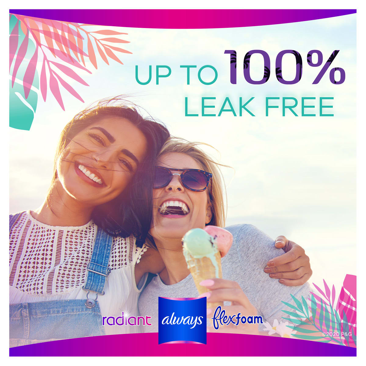 Up to 100% leak free