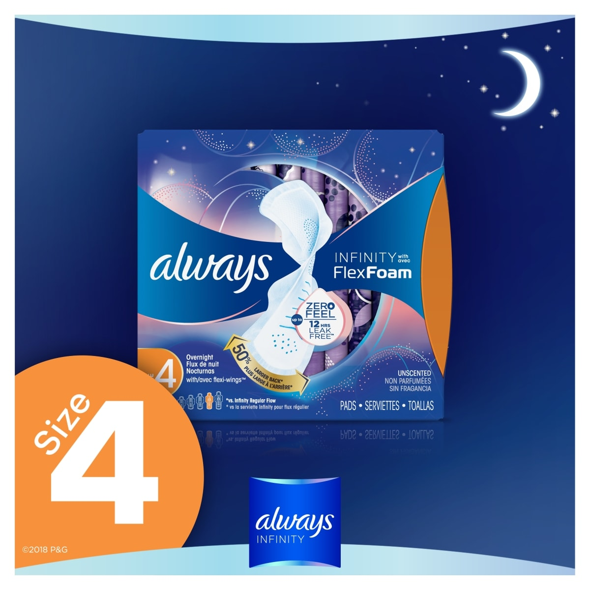 Always Infinity Overnight Heavy Pads