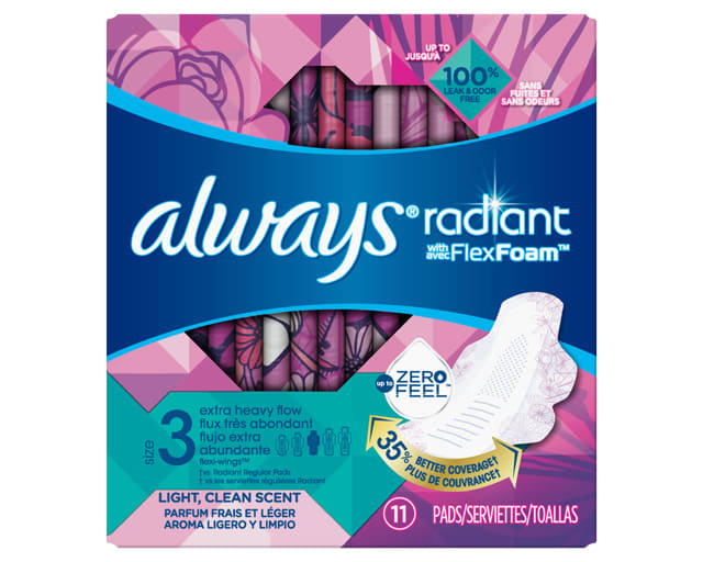 Always Radiant Pads Size 3 Extra Heavy