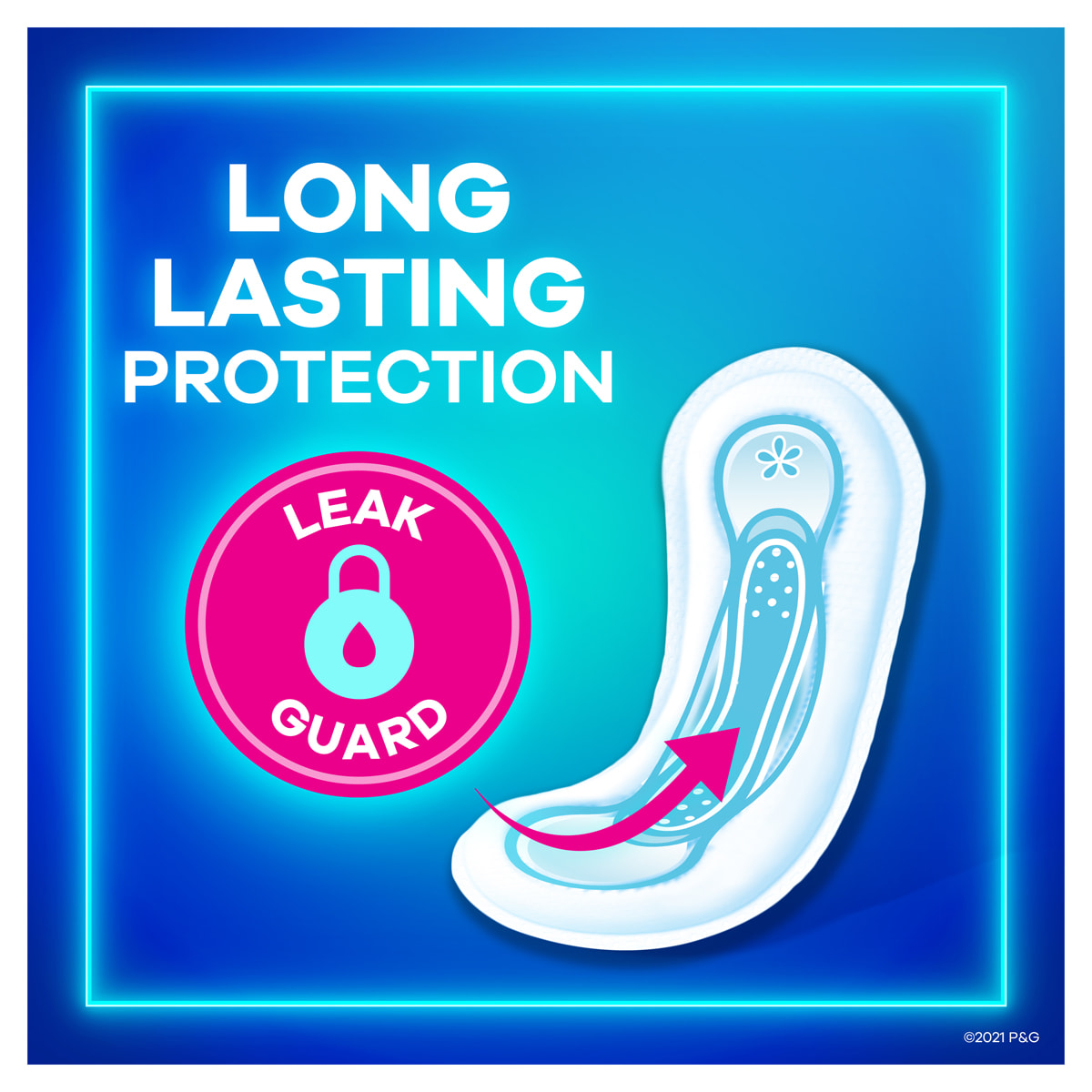 Always Maxi Pads without Wings Long Lasting Protection