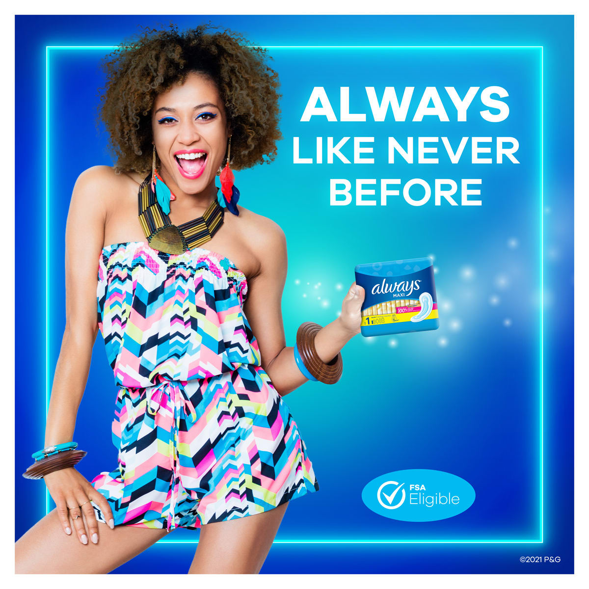 Always Maxi Size 1 Regular Pads Without Wings Unscented Girl
