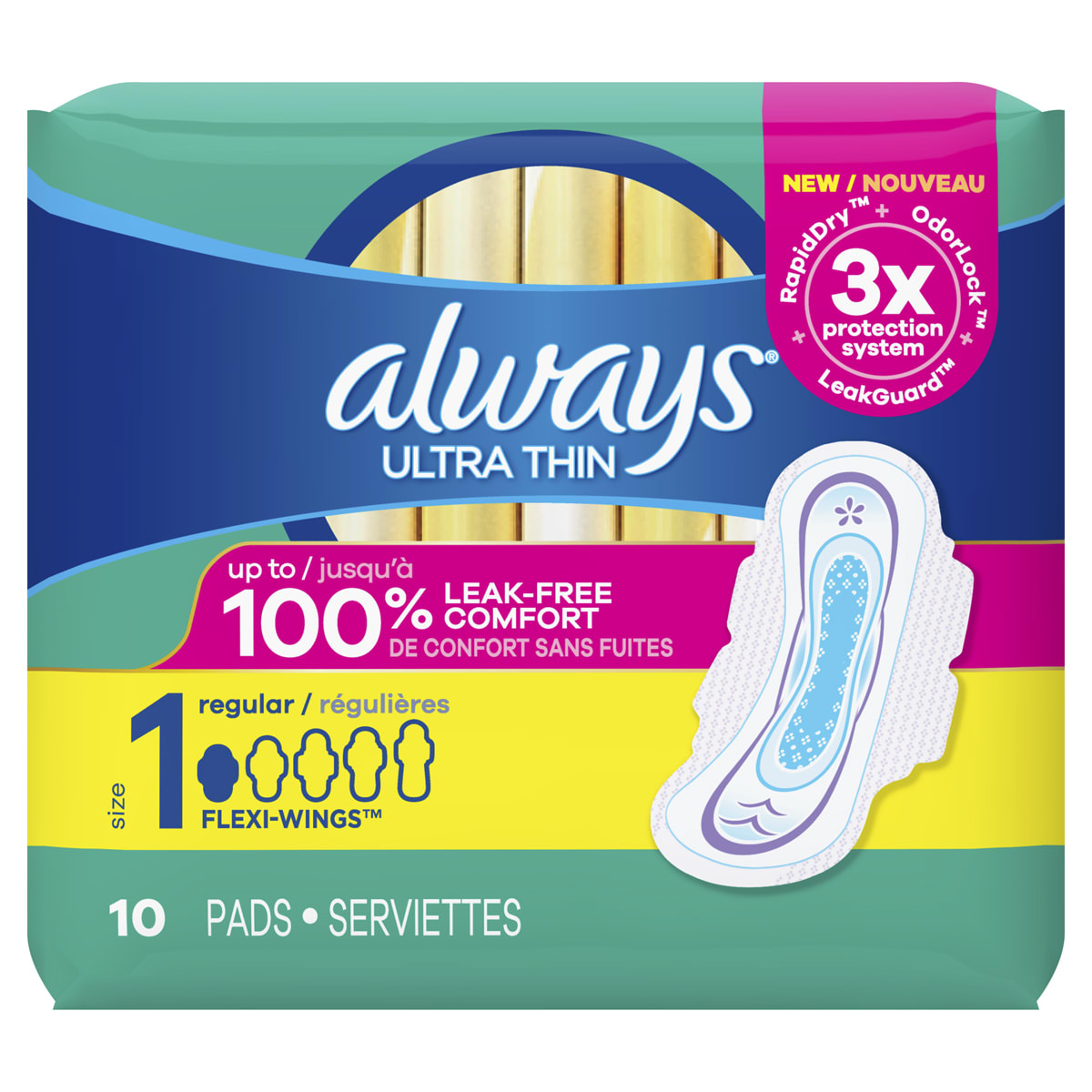 Ultra Thin Pads Regular Absorbency with Wings