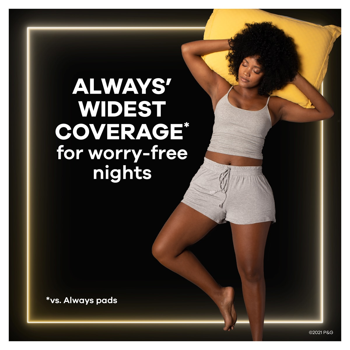 Always Pads ZZZ Widest Coverage For Worry Free Nights