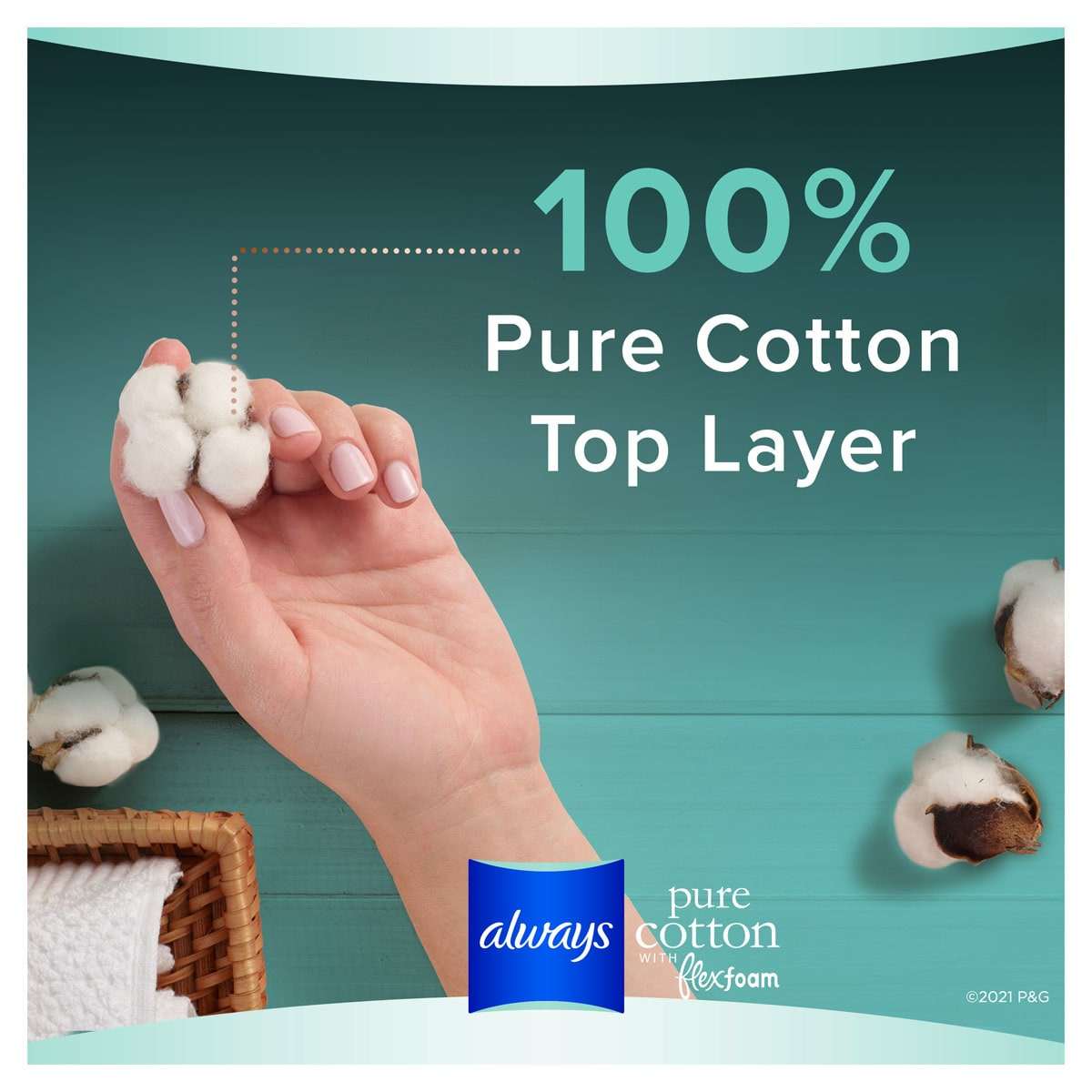 Always Pure Cotton Night 100 Top Layer