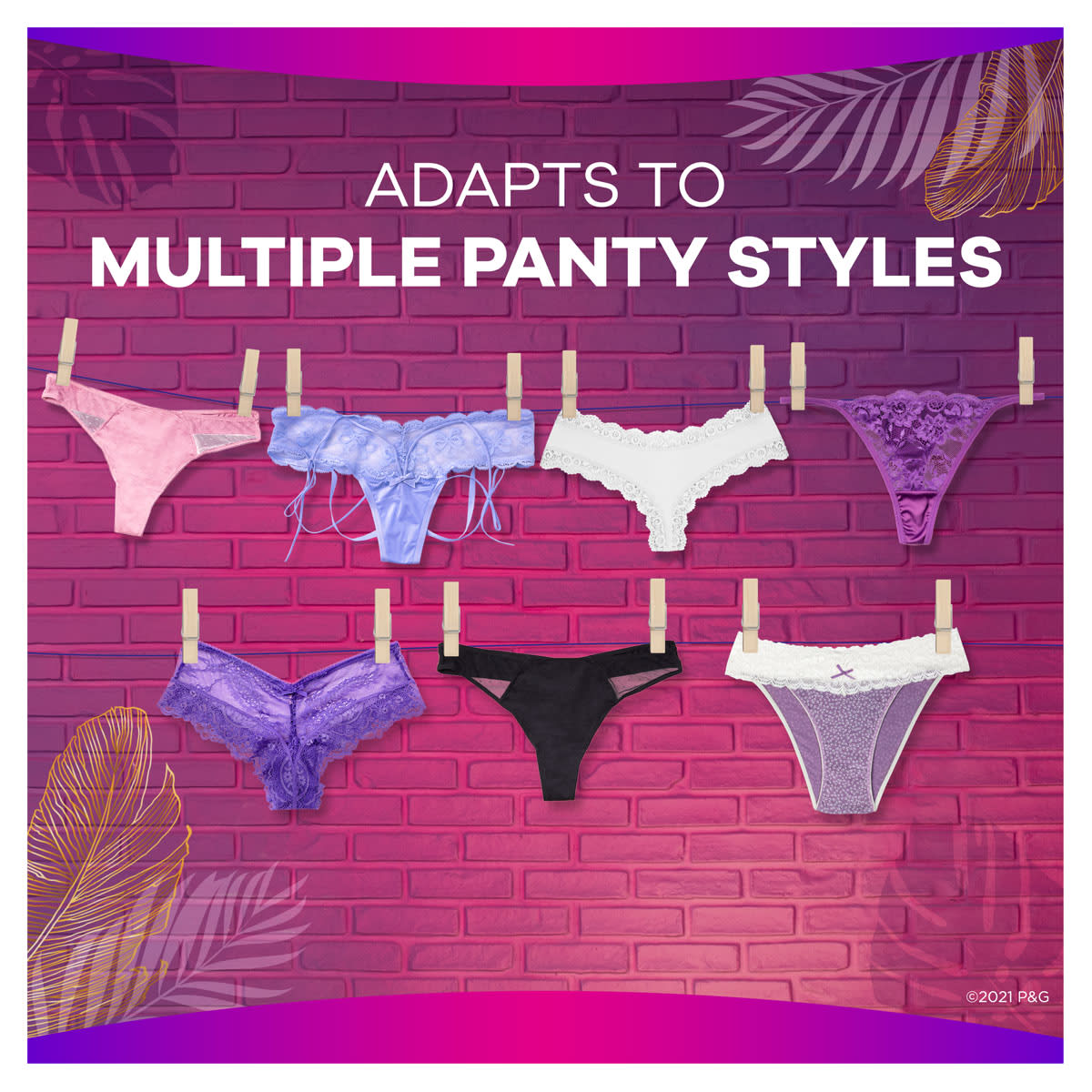Always Radiant Multistyle Multiple Panty Liners