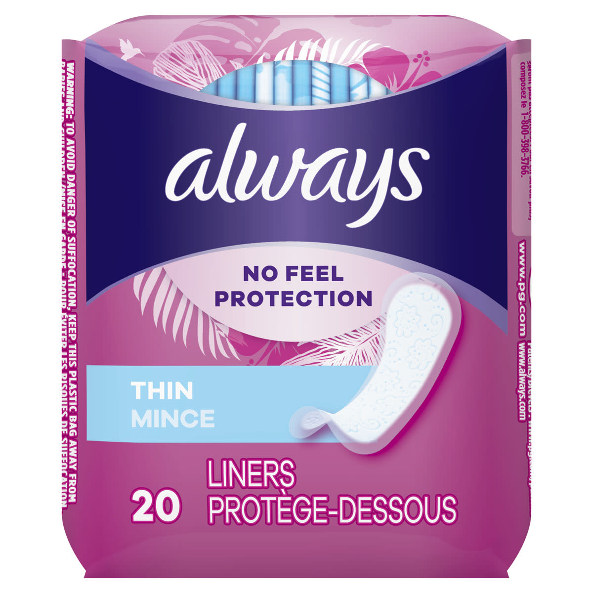 Always Thin Daily Liners, Wrapped