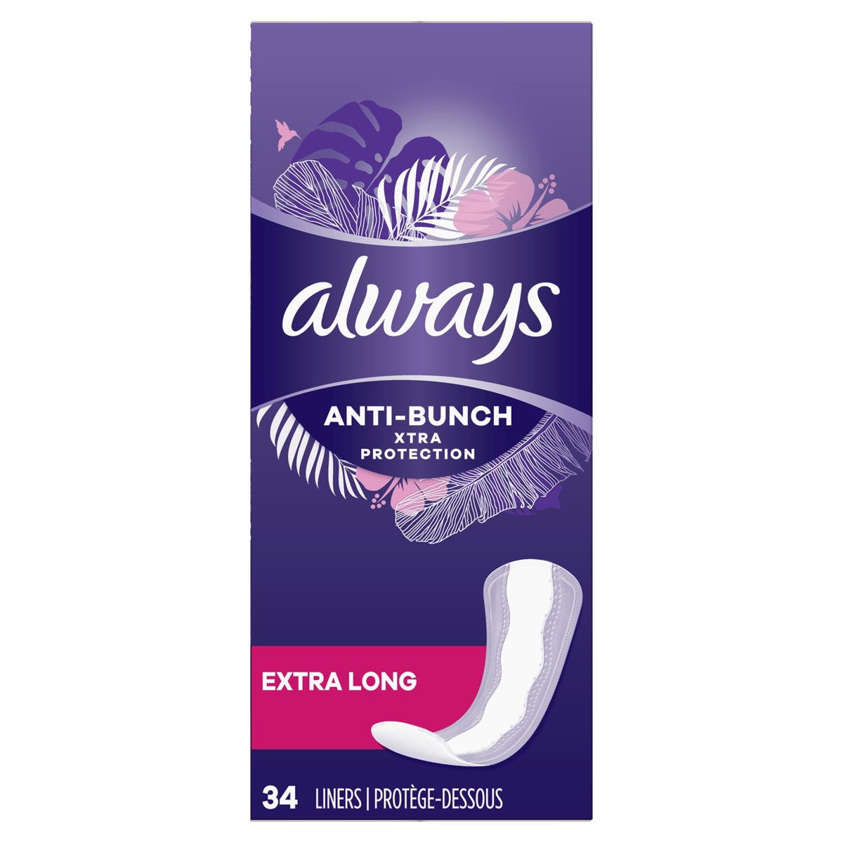 Always Xtra Protection Daily Liners, Extra Long, Clean Scent