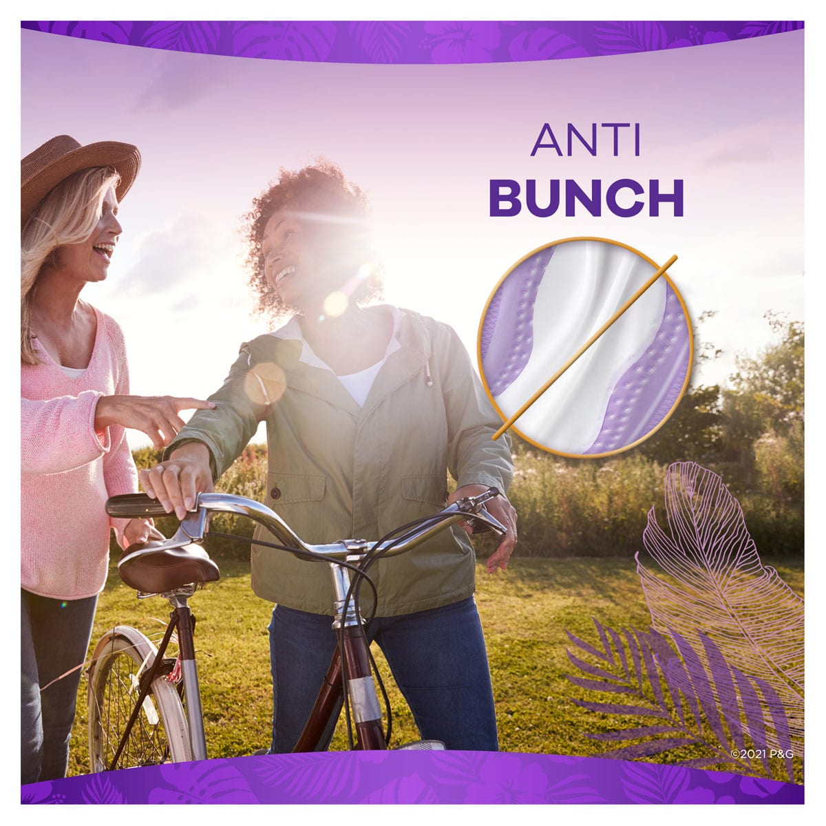 Always Daily Liners Venus XtraProtection Anti Bunch
