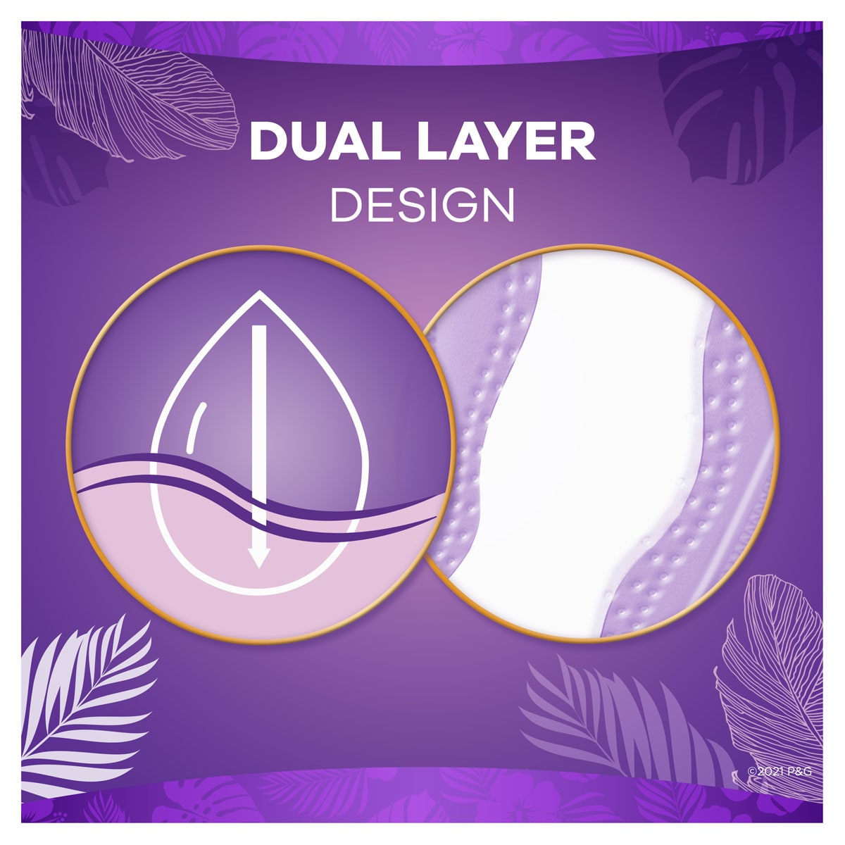 Always Daily Liners Venus XtraProtection Dual Layer Design