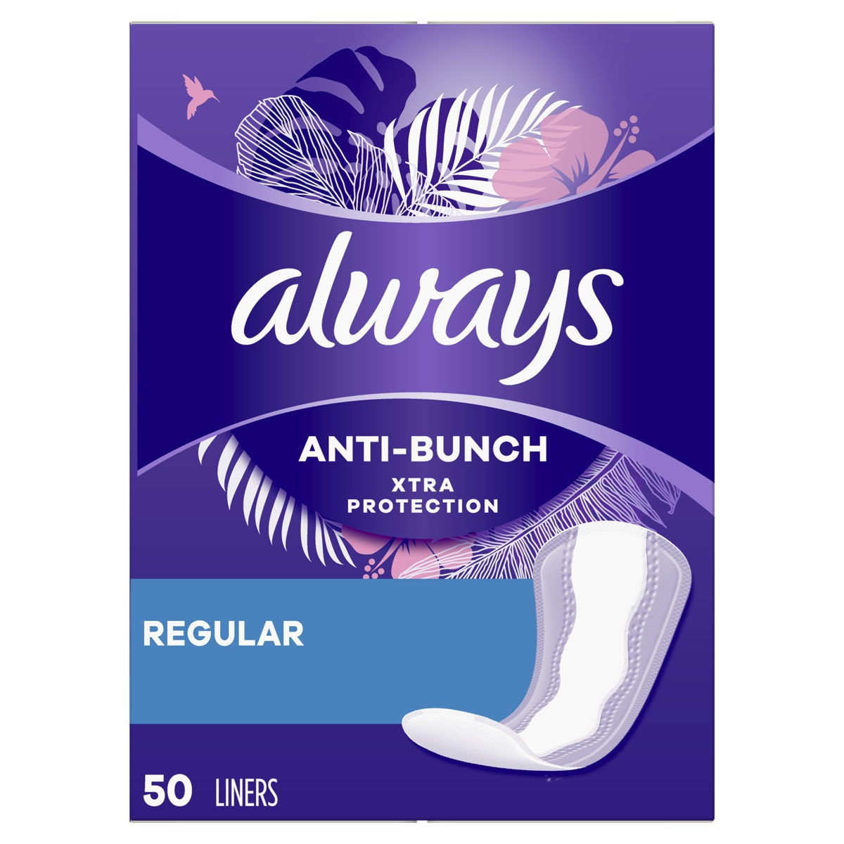 Always Xtra Protection Daily Liners, Regular, Wrapped