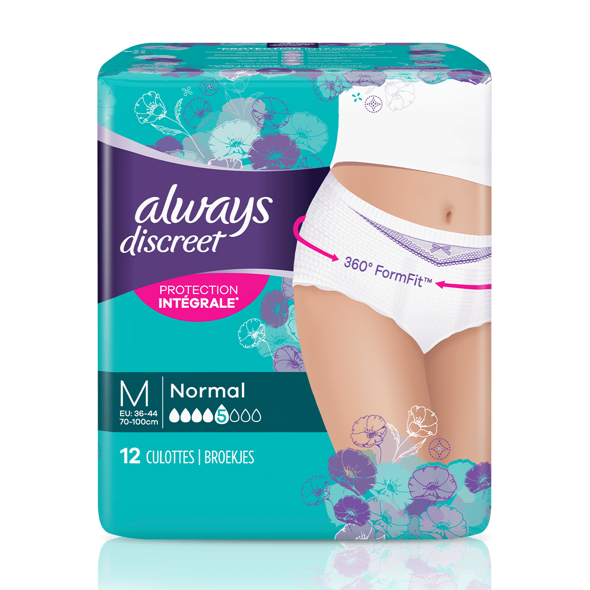 Culottes-pour-incontinence-ALWAYS-DISCREET-Normal-Taille-Basse-M