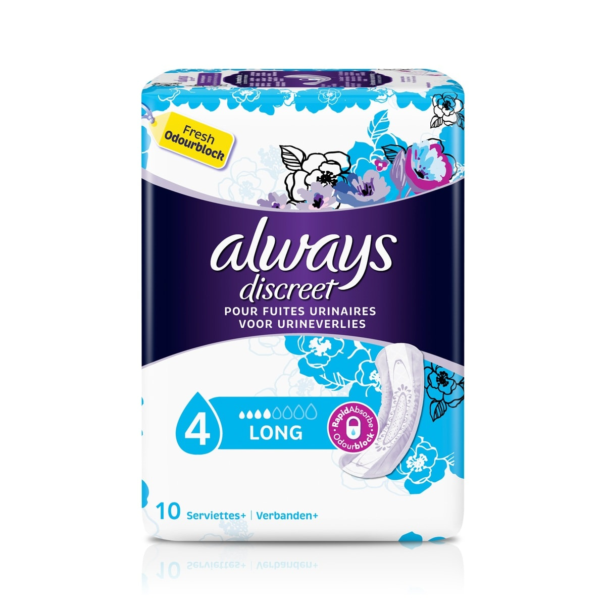 ALWAYS DISCREET Serviettes Long