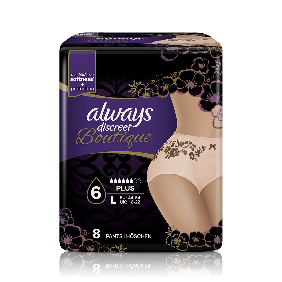 ALWAYS DISCREET Boutique Incontinence Pants Large