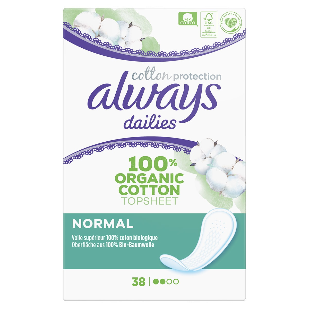 Always Cotton Protection Slipeinlagen
