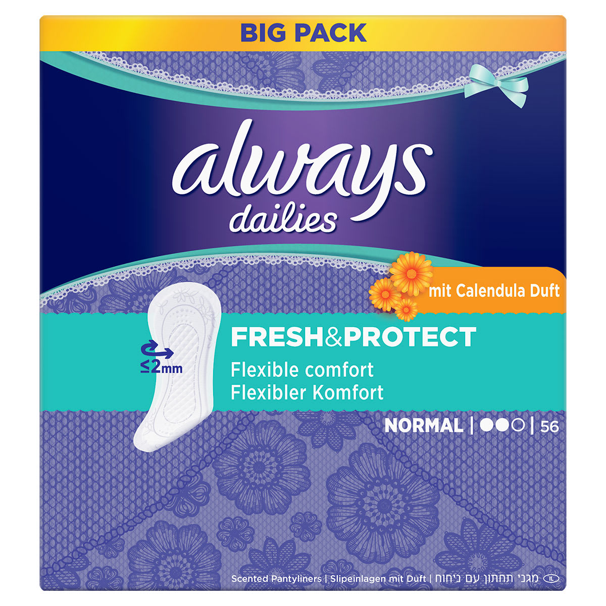 ALWAYS Fresh & Protect Normal Mit Calendula Slipeinlagen