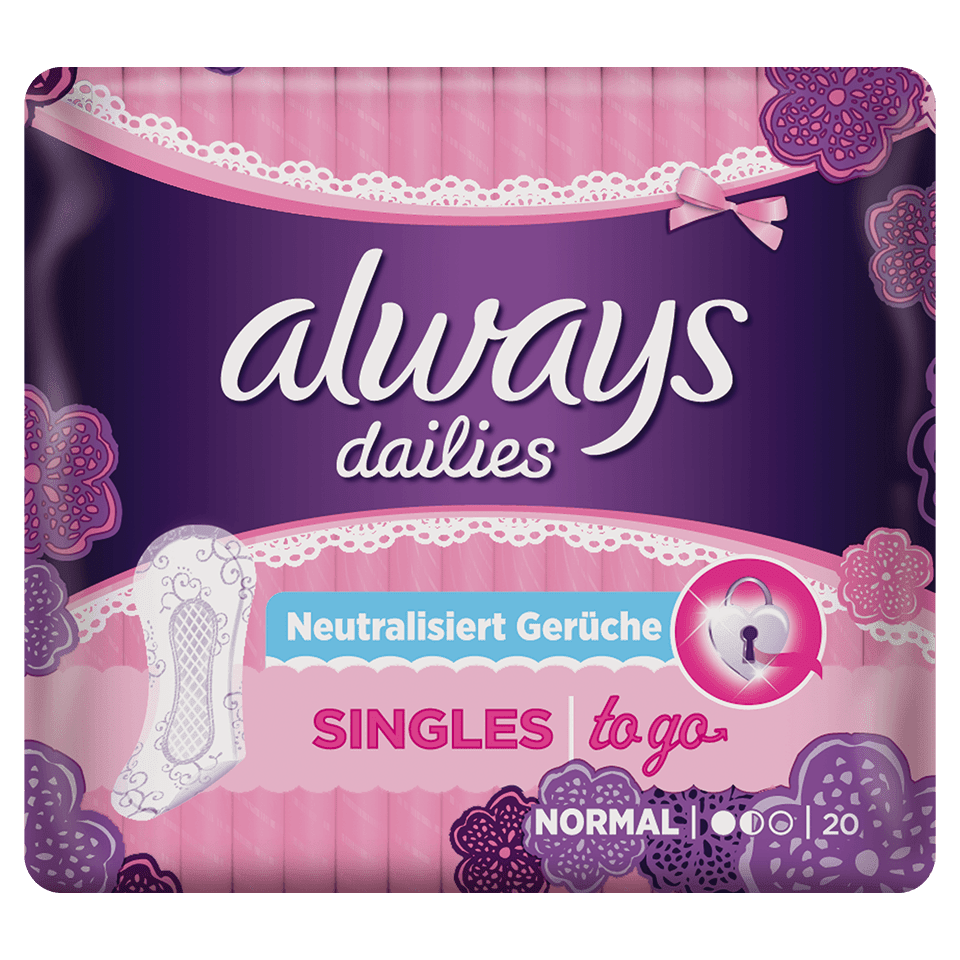 ALWAYS SINGLES To Go Slipeinlagen