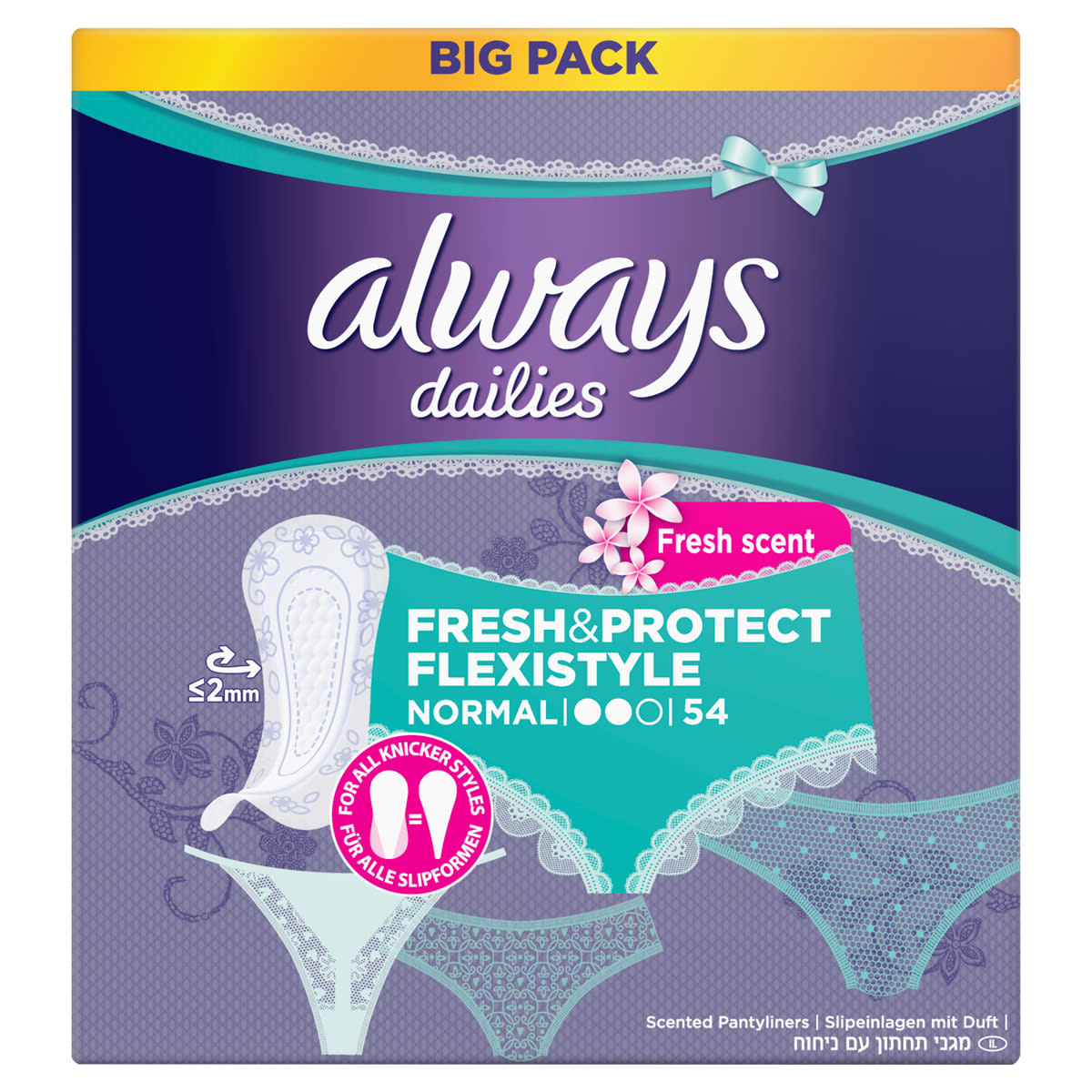 ALWAYS Slipeinlage Fresh & Protect Normal Flexistyle Fresh BigPack 54 count