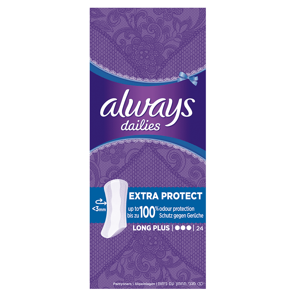 Protège-slips ALWAYS DAILIES Extra Protect Long Plus