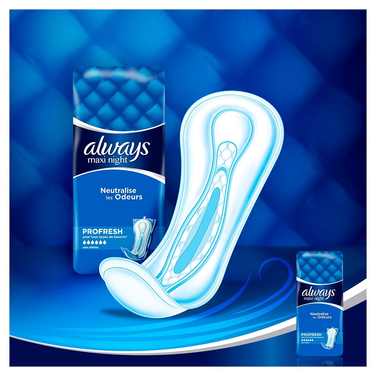 ALWAYS Maxi Night Profresh Serviettes hygiéniques 2