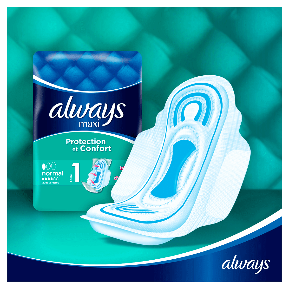 ALWAYS Maxi Normal Serviettes Hygieniques Cycle Menstruel 1
