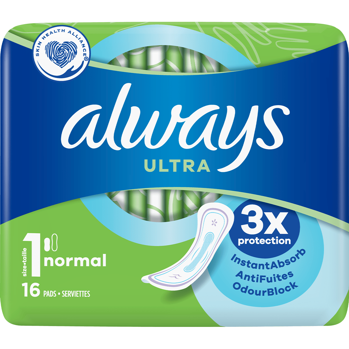 ALWAYS Ultra Normal (Taille 1) Serviettes hygiéniques 16