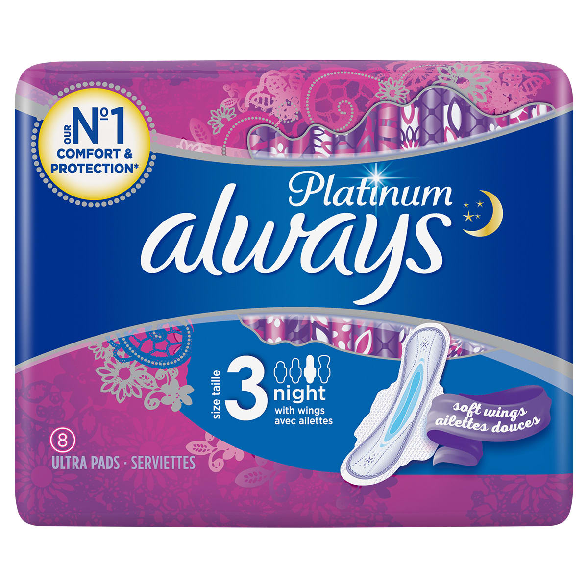 ALWAYS Platinum Night Sanitary Towels with Wings