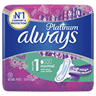 ALWAYS Platinum Normal Sanitary Towels with Wings