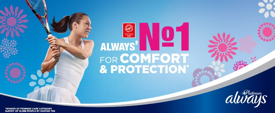 ALWAYS Platinum Normal Sanitary Towel Menstrual Cycle