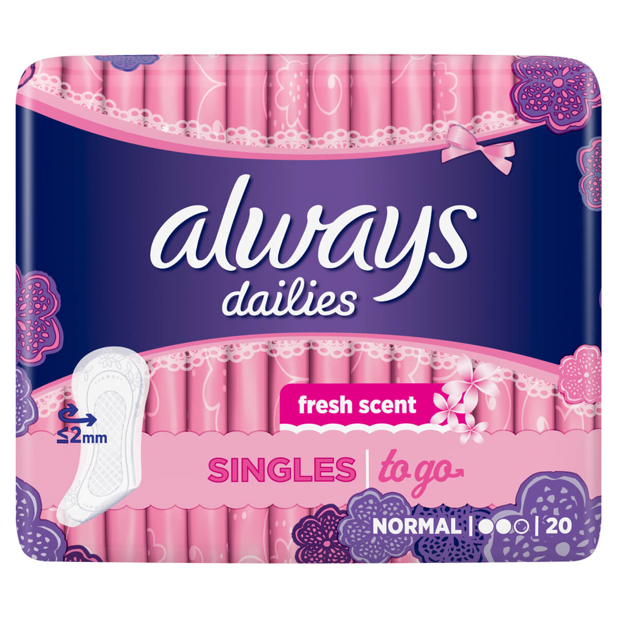 ALWAYS DAILIES Singles To Go Fresh Scent Normal