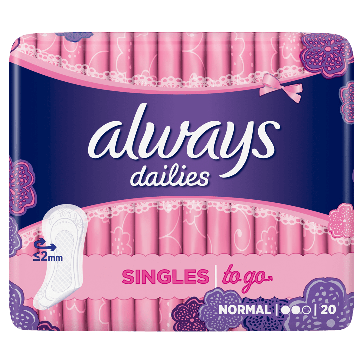ALWAYS DAILIES Singles To Go Pantyliners