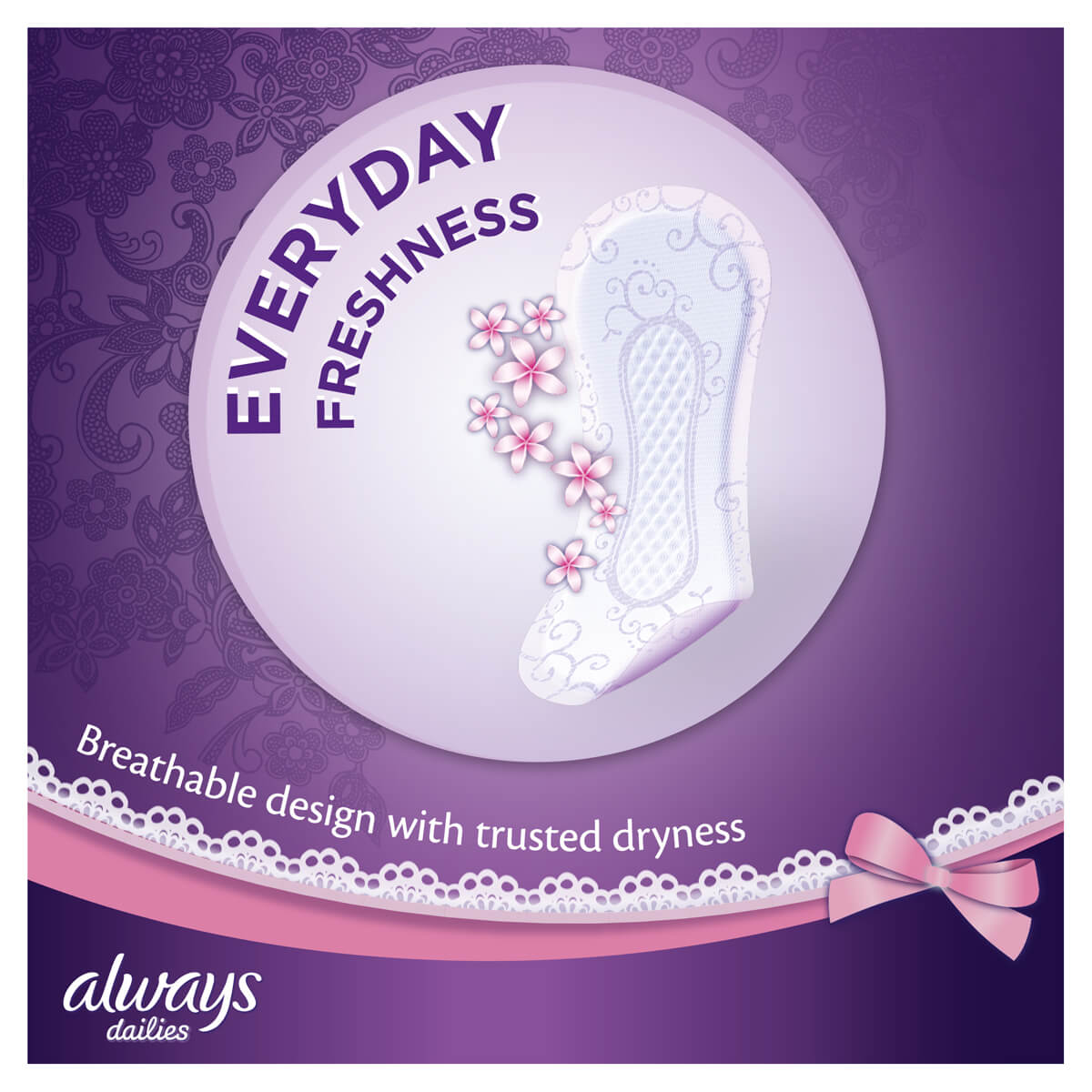 ALWAYS DAILIES Singles To Go Normal Pantyliners Everyday Freshness