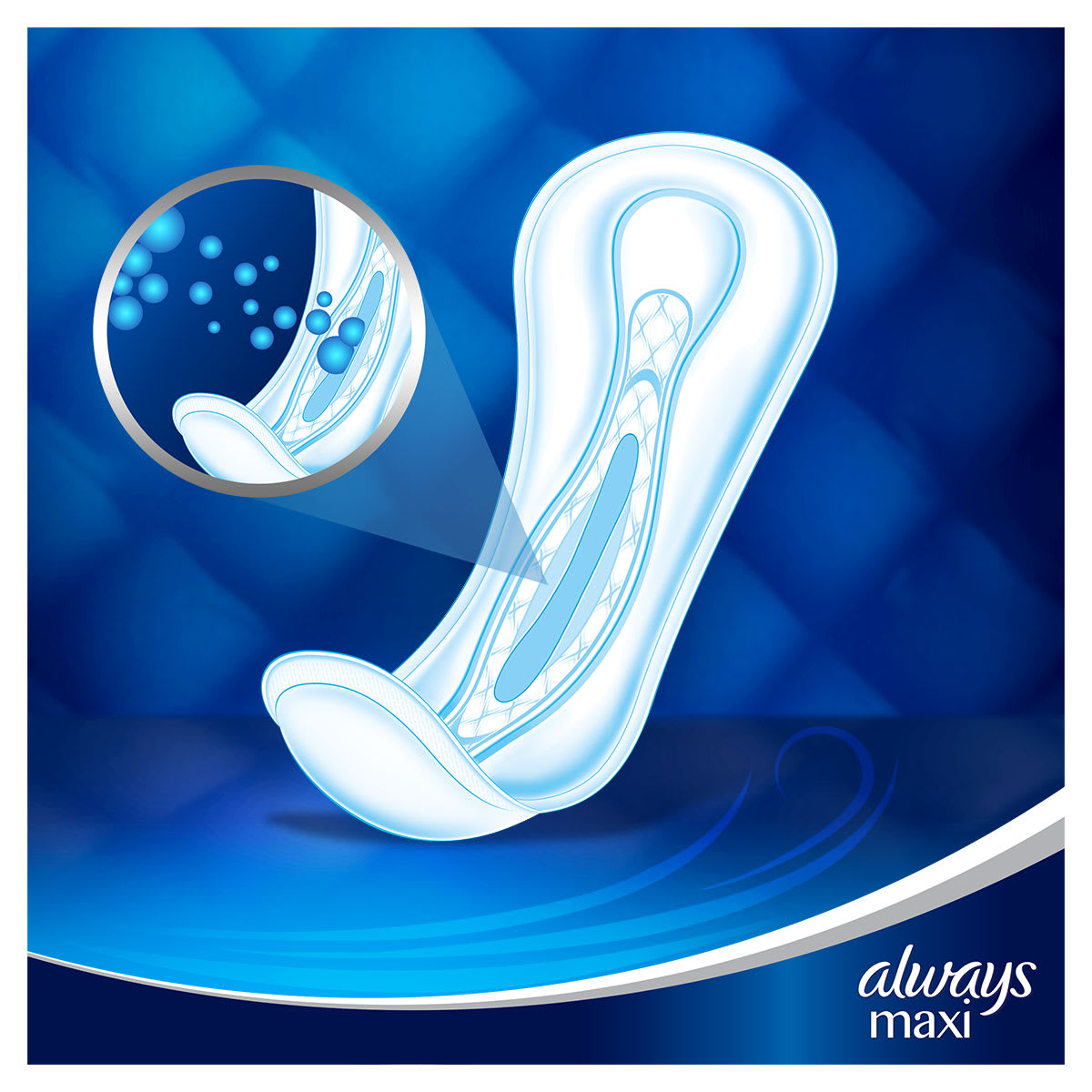 ALWAYS Maxi Restage Profresh Night Saitary Towel Menstrual Cycle
