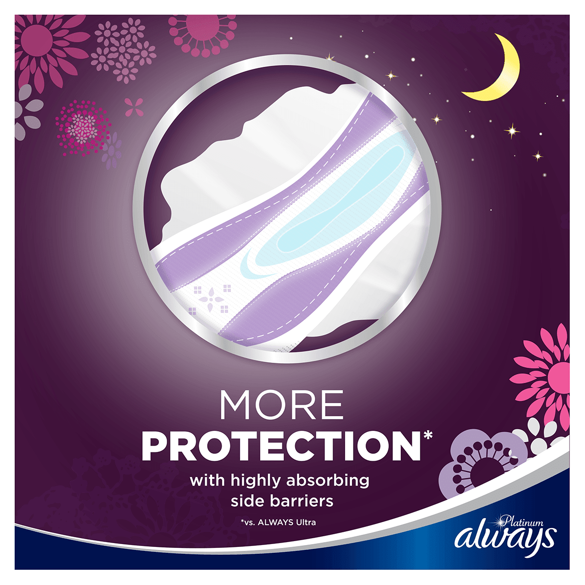 ALWAYS Platinum Night Sanitary Towels Size 3