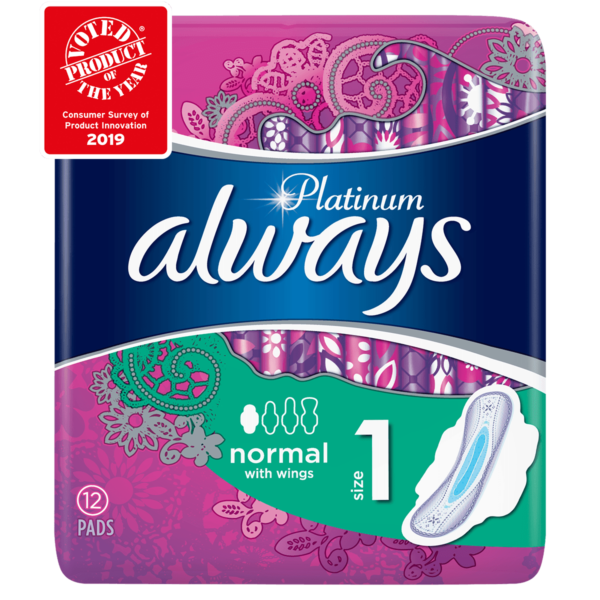 ALWAYS Platinum Normal Size 1 Sanitary Towels