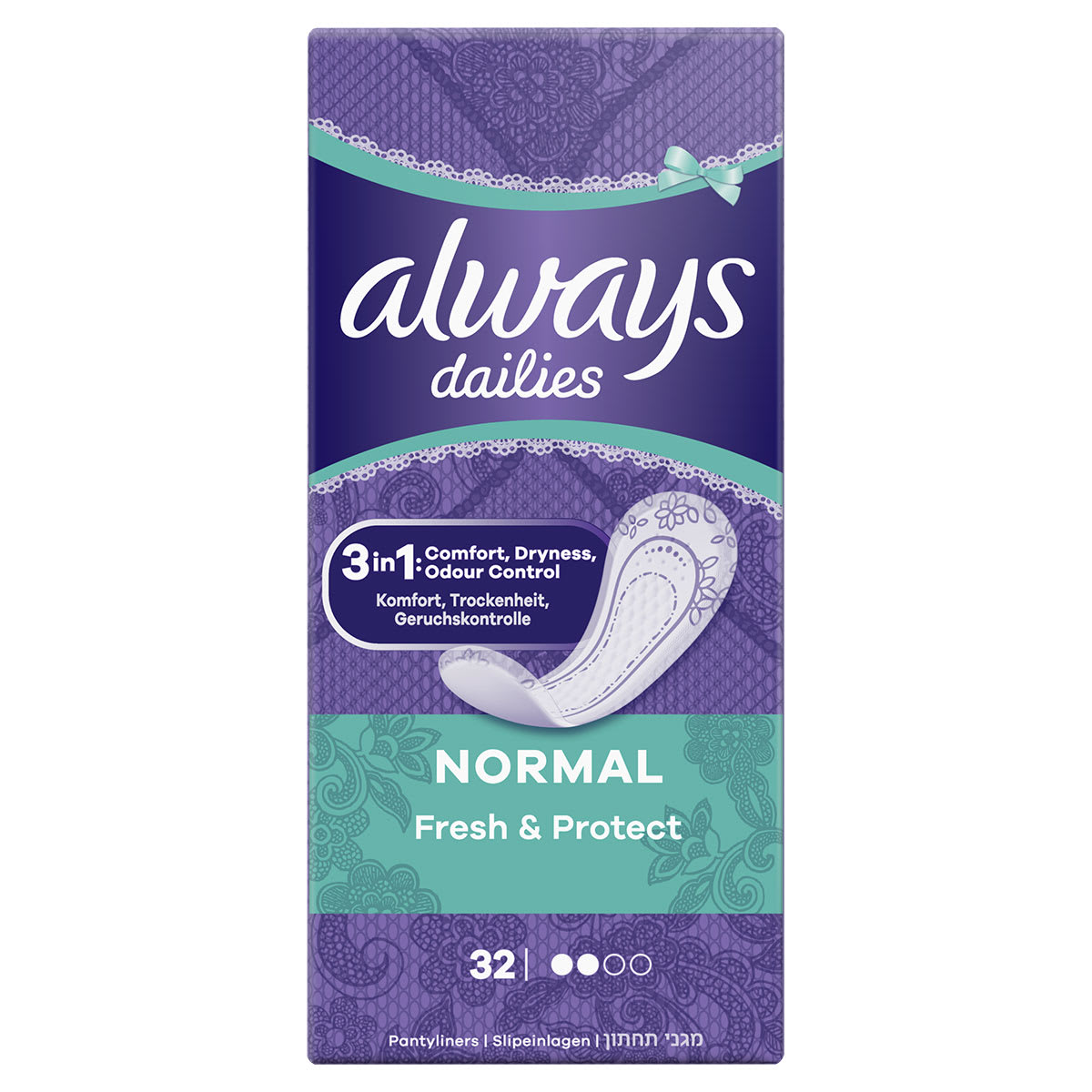 ALWAYS DAILIES Fresh & Protect Panty Liners Normal
