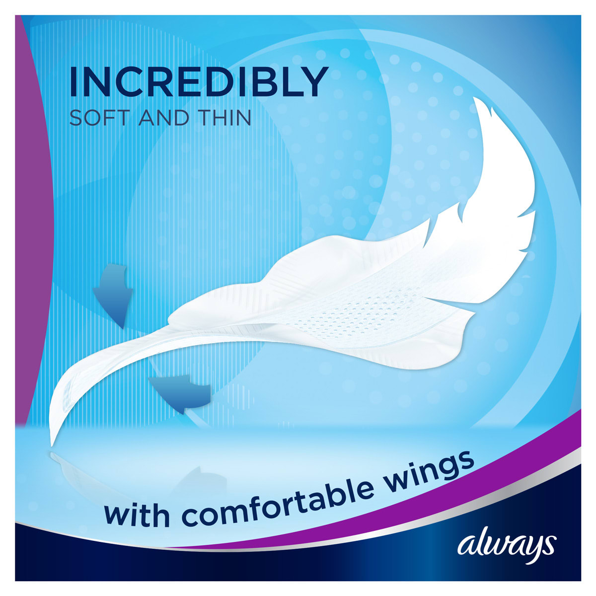 ALWAYS Infinity Long (Size 2) Wings Incredibly Soft and Thin