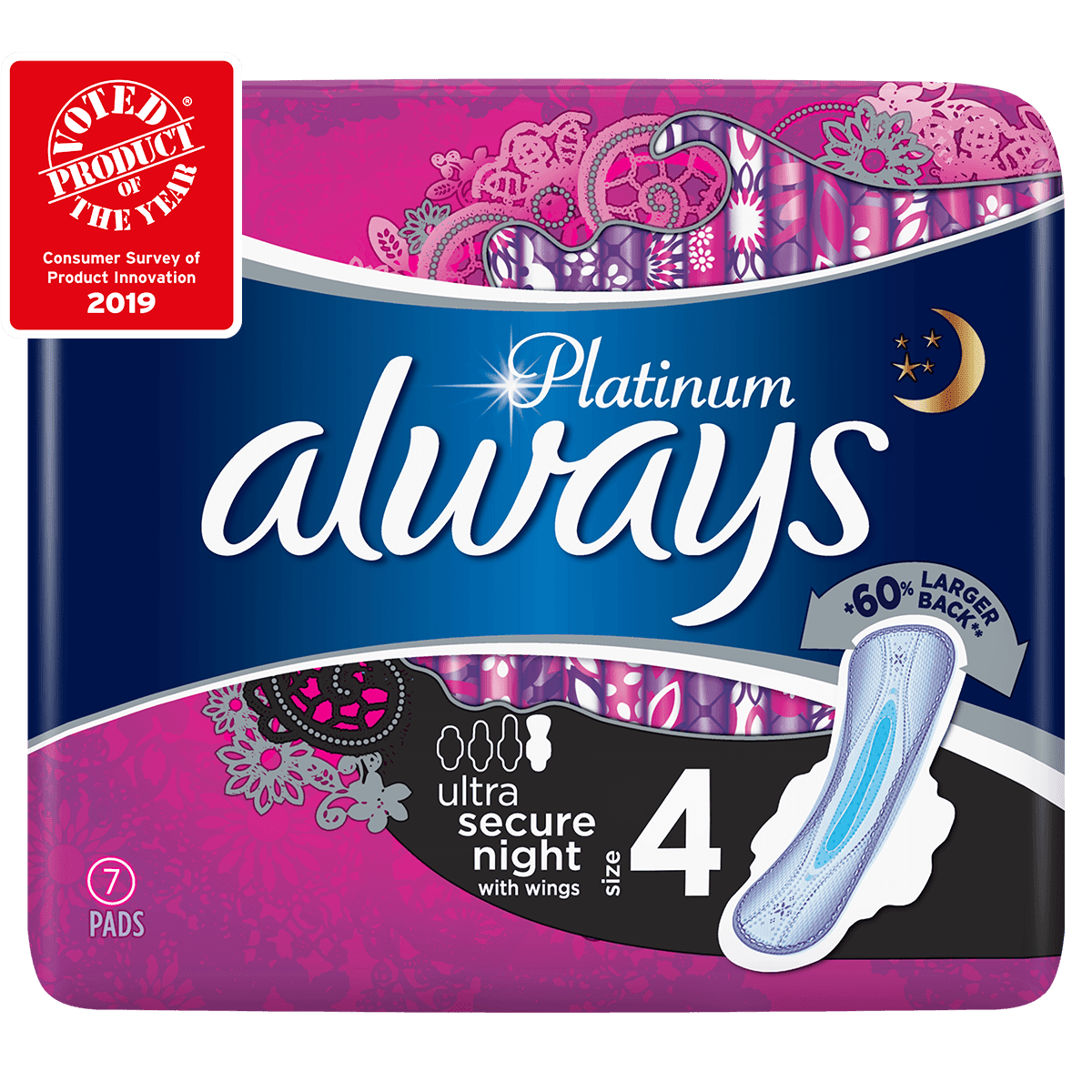 ALWAYS Platinum Ultra Secure Night Size 4